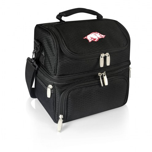 Arkansas Razorbacks Black Pranzo Insulated Lunch Box