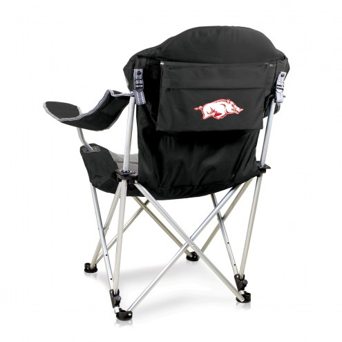 Arkansas Razorbacks Black Reclining Camp Chair