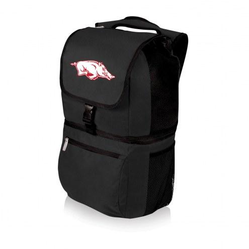 Arkansas Razorbacks Black Zuma Cooler Backpack