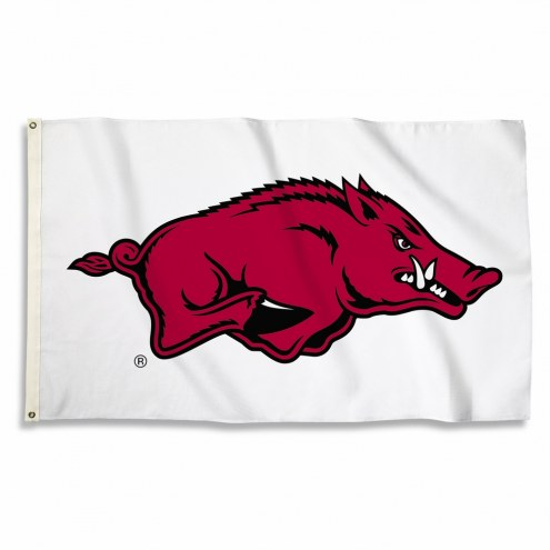 Arkansas Razorbacks 3' x 5' White Flag