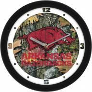 Arkansas Razorbacks Camo Wall Clock