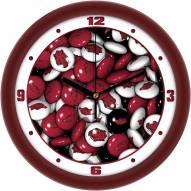 Arkansas Razorbacks Candy Wall Clock