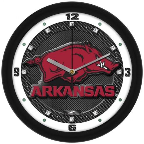 Arkansas Razorbacks Carbon Fiber Wall Clock