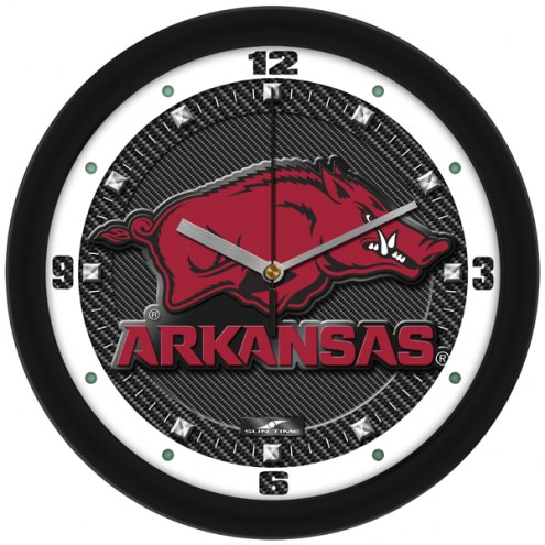 Arkansas Razorbacks Carbon Fiber Wall Clock