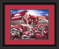 Arkansas Razorbacks Celebration Framed Print