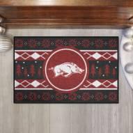 Arkansas Razorbacks Christmas Sweater Starter Rug
