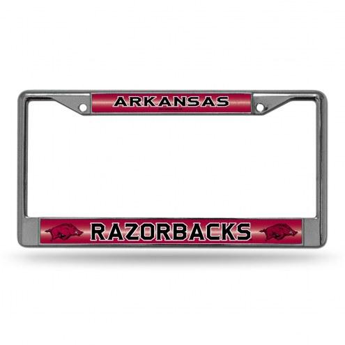Arkansas Razorbacks Chrome Glitter License Plate Frame