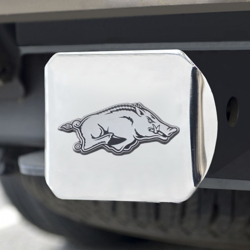 Arkansas Razorbacks Chrome Metal Hitch Cover