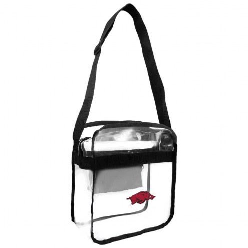 Arkansas Razorbacks Clear Crossbody Carry-All Bag
