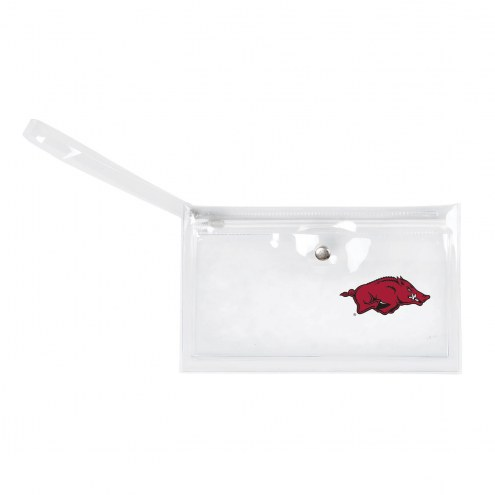 Arkansas Razorbacks Clear Ticket Wristlet