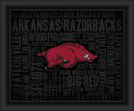 Arkansas Razorbacks College Word Cloud