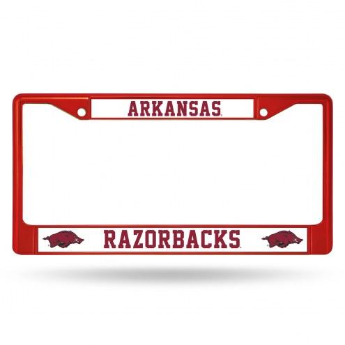 Arkansas Razorbacks Color Metal License Plate Frame