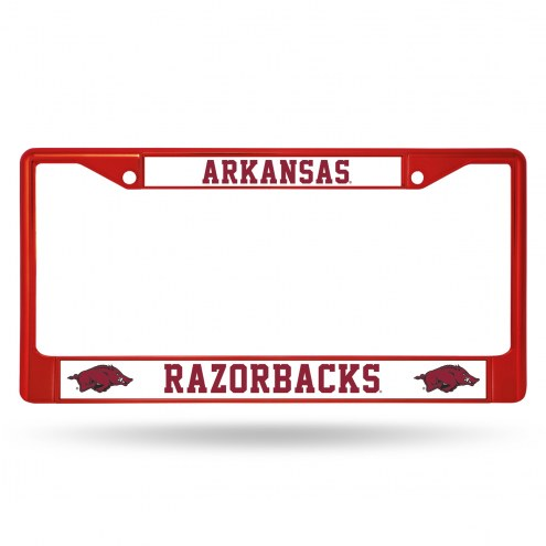 Arkansas Razorbacks Colored Chrome License Plate Frame