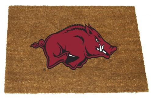 Arkansas Razorbacks Colored Logo Door Mat