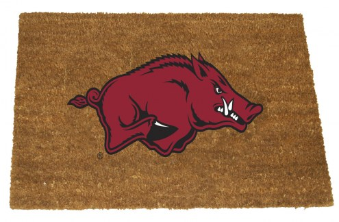 Arkansas Razorbacks Colored Logo Door Mat