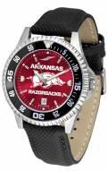 Arkansas Razorbacks Competitor AnoChrome Men's Watch - Color Bezel