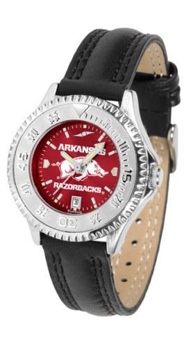 Arkansas Razorbacks Competitor AnoChrome Women's Watch