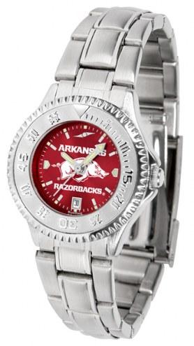 Arkansas Razorbacks Competitor Steel AnoChrome Women's Watch