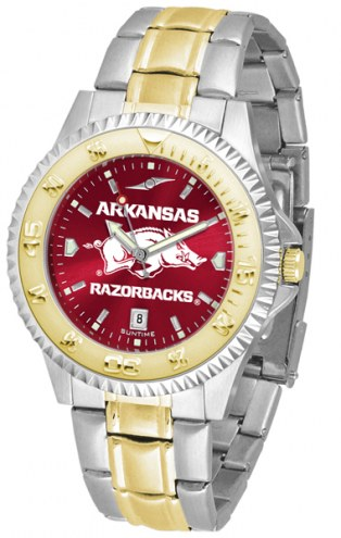 Arkansas Razorbacks Competitor Two-Tone AnoChrome Men's Watch