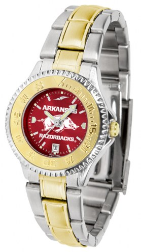 Arkansas Razorbacks Competitor Two-Tone AnoChrome Women's Watch