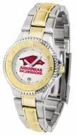 Arkansas Razorbacks Competitor Two-Tone Women's Watch