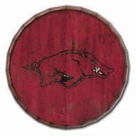 "Arkansas Razorbacks Cracked Color 24"" Barrel Top"