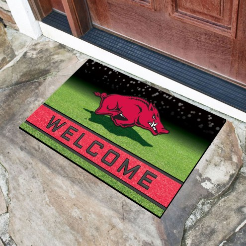 Arkansas Razorbacks Crumb Rubber Door Mat