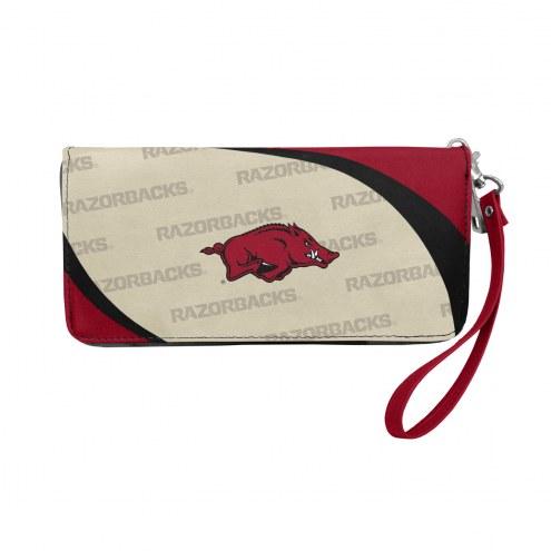 Arkansas Razorbacks Curve Zip Organizer Wallet