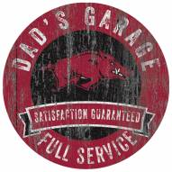Arkansas Razorbacks Dad's Garage Sign