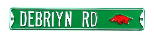Arkansas Razorbacks Debriyn Street Sign