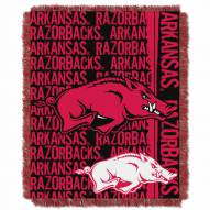 Arkansas Razorbacks Double Play Woven Throw Blanket