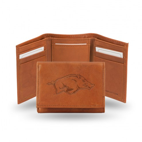 Arkansas Razorbacks Embossed Tri-Fold Wallet