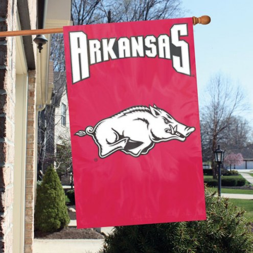 Arkansas Razorbacks NCAA Applique 2-Sided Banner Flag