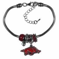 Arkansas Razorbacks Euro Bead Bracelet