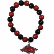Arkansas Razorbacks Fan Bead Bracelet