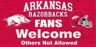 Arkansas Razorbacks Fans Welcome Wood Sign