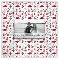 "Arkansas Razorbacks Floral Pattern 10"" x 10"" Picture Frame"