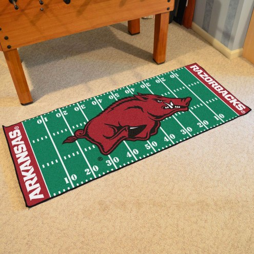 Arkansas Razorbacks Football Field Runner Rug