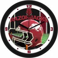 Arkansas Razorbacks Football Helmet Wall Clock