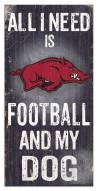 Arkansas Razorbacks Football & My Dog Sign