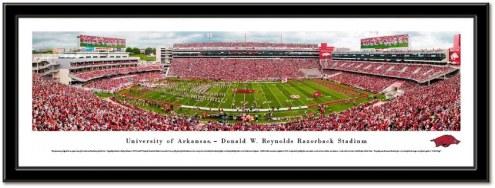 Arkansas Razorbacks Framed Stadium Print