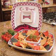 Arkansas Razorbacks Gameday Chip N Dip Dish