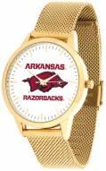 Arkansas Razorbacks Gold Mesh Statement Watch