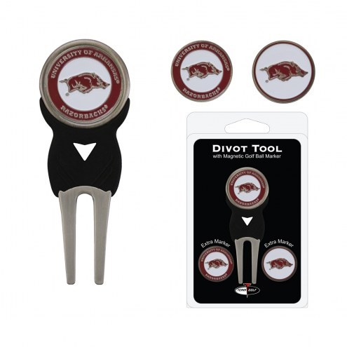 Arkansas Razorbacks Golf Divot Tool Pack