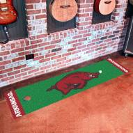 Arkansas Razorbacks Golf Putting Green Mat