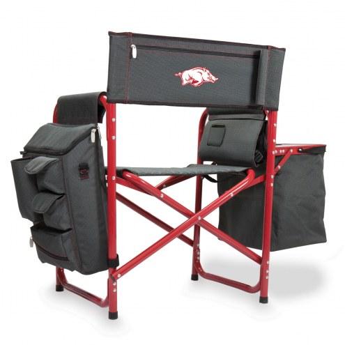 Arkansas Razorbacks Gray/Red Fusion Folding Chair