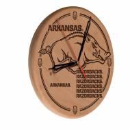 Arkansas Razorbacks Laser Engraved Wood Clock