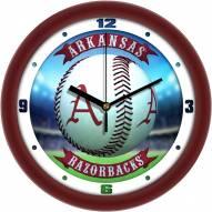 Arkansas Razorbacks Home Run Wall Clock
