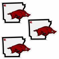 Arkansas Razorbacks Home State Decal - 3 Pack