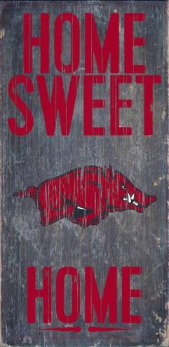 Arkansas Razorbacks Home Sweet Home Wood Sign